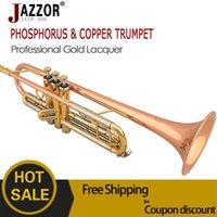 Wholesale JAZZOR professional Trumpet JATR Bb tune trompete musical instrument corneta trompeta wind instruments