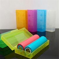 Wholesale 18650 Battery box storage case plastic battery storage container pack or for ecig mechanical mod battery