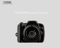 Wholesale 720P HD Spy Camera Mini DV Hidden Video Camera Y3000 the Smallest Digital Video Recorder Mini DVR Camcorder Also Y2000