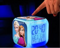 Wholesale New LED Colors Change Digital Alarm Clock Night Colorful Glowing toys happy birthday