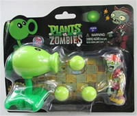 action figures zombies - PVZ Plants vs Zombies Peashooter PVC Action Figure Model Toy Christmas Gifts Style