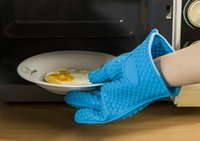 Wholesale Heat Resistant Silicone Glove Cooking Baking BBQ Oven Pot Holder Mitt Kitchen