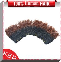 Wholesale 7pcs Colored Extension DHgate Shop Cheap Brazilian Human Remy Hair Deep Afro Curly Weaves XOXO
