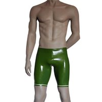 rubber pants - Natural Latex Tight Breeches for Men Latex Rubber Shorts Underwear mm Latex Breeches Short Pants for Men Boys