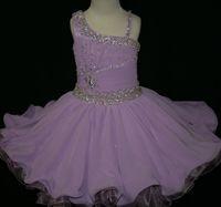 Cheap Lavender Short Beads Real Image Glitz pageant dresses pageant dress girls ball gown flower girl dresses for little girl infant pageant dress