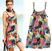 Wholesale Bohemian style Suspender Skirt Summer Beach Skirt Sarong Special Offer Free Shpping B2