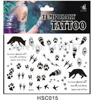 animal tattoo designs - Min order is mix order Animal paw print Pattern design Temporary Waterproof body art Tattoo Stickers HSC015