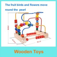 animal mazes - Holiday Sale Wooden Birds and Flowers around the Pearl toys Animal Track Rail Maze Pearl Educational Wooden Toy