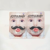 Wholesale 2016 Hot Funny pacifiers Infant Baby Kid Pacifier Orthodontic Nipples Dummy Mustache Beard Silicone Nibbler free ship