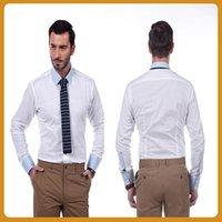 bespoke dress shirts - Best Sell Cotton Solid White Bespoke Business Shirt