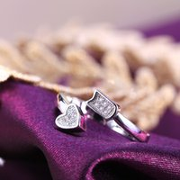 american cupid - Cupid Silve Rings Women Girl With Jewelry Ring Rhinestone Opening Couple Rings Gold plated Copper In Europe And America Hot Sales Gold Rings