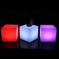 Wholesale moder RGB colors changing lighting up illuminated cm cube decorating night light for outdoor piece