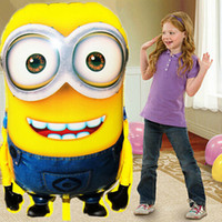 Wholesale 1PCS cm Hot Sale Minions Inflatable Balloons Despicable Me Large Size Foil Balloons Cartoon Kids Classic Toys