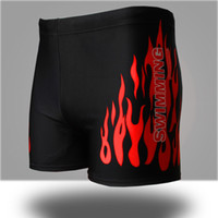 Wholesale Hot Selling Men Swim Trunks Boxers Short Spring Bathing Clothing Swim Beachwear Flame Patterns Men Swimwear