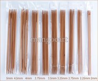 bamboo knitting needles set - Promotion sets mm sizes Carbonized Bamboo Knitting Needles for Sweater cm Double Point b8 SV001571