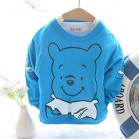 active basic tee - Cheap Baby Clothing Spring Autumn Baby T shirt Toddler Boy Full Sleeve Cartoon Tops Child Terry Cotton Basic Tee Shirt