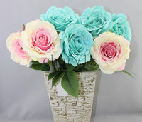 Wholesale Aesthetics Rose Artificial Flower Silk Cloth Real Touch Artificial Simulation Wedding Decorative Flower AF204