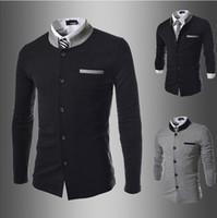 men suit fashion - men s suits Mens Blazers Jacket casual fashion men blazer New autumn and winter spell color collar Slim small suit jacket men