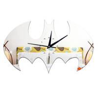 Wholesale Quality First Hot Selling BATMAN Pattern Sticker DIY Mirror Wall Clock Home Decoration High Quality Wall Sticker Living Room Kid Children
