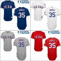 texas rangers - Texas Rangers Cole Hamels Blue White Red GRAY Home Road Wholesales Cheap American baseball jerseys Embroidery Logo Mix Order