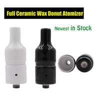 Wholesale Huge Vapor Wax Ceramic Donut Atomizer wickless Ceramic Heating Element Vaporizer without coil Generation Newest Atomizer for Box Mod