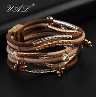 Wholesale YAL Jewelry Newest Friendship Bracelet Fashion Leather Silver Bracelets for Men Women Charm Jewelry Loom Bangle Bracelets Design