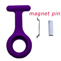 round magnet - Magnet silicone nurse watch nurse fob watch lapel pocket doctor nurse watch silicone glow in dark nurse watch accessory