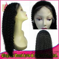 Wholesale Natural hairline virgin Peruvian kinky curly lace front wig glueless full lace human hair wigs natural color with baby hair for black women