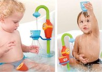 baby music boxes - 2pcs Baby Bath Toys Flow N Fill Spout Buttressed Music Spray Shower Kid Play Taps With Retail Box Children Best Gifts