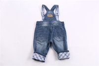 best security lighting - Boys Baby Overalls Jeans Pants Security Safety Home Health High Quality England Birthday Christmas Best Gift
