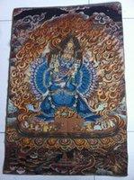 Wholesale Tibet Nepal thangka tara buddha Kuan statue Guan Yin Exorcism peace wealth ch