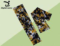 al por mayor deporte amarillo de titanio-NUEVO azul marino amarillo manga del brazo blanco de titanio de Deportes Béisbol (cinta rosada) YS, YM, YL, S, M, L