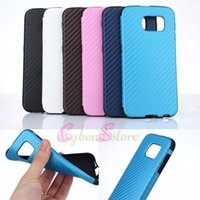 full grain leather - For Galaxy S6 Carbon Fiber Hybrid Leather Soft TPU Full Protection Basket Mat Grain Luxury Phone Back Case Cover For Samsung G9200