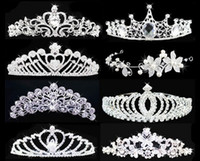 Wholesale New Arrival Fashion Luxury Good Quality Headdress Jewelry Hair Crown Pearl Comb Diamond Crystal Bride Wedding Tiaras