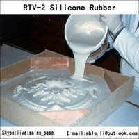 concrete molds - RTV liquid silicone rubber with high tear strength make molds for concrete and plaster products