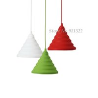 Wholesale Fashion colorful Silicone Fold pendant lights home lighting Lamps cable length meter order lt no track