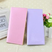 Wholesale Hot Sale Candy Color Multi card Bit Wallets Card Holder For Women PU Leather Ladies Wallet Fashion Card Holder Colors DHL Free