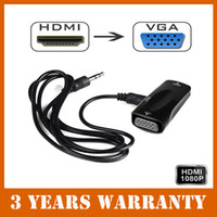 audio video direct - 1080P HDMI to VGA Video Converter Box AV Adapter Audio M Cable for PC to HDTV order lt no track