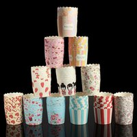 ice cream paper cup - Cake Tools Treat Portion Candy Nut Paper Polka Dot Stripe Party Baking Cupcake Liners Muffin Cups Ice Cream Dessert cup