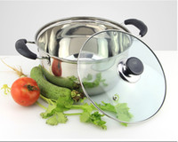 Wholesale Korean Style Stainless Steel Cookware cm Cooking Pot Induction Bottom stock pot soup pot