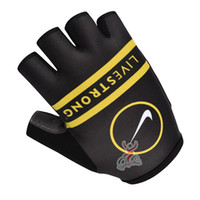 Wholesale Giant And Livestrong Cycling Gloves Blue green Black Road Mountain Cycling Gloves Size S XL High Quality Cycling Protective Gear Fast Ship