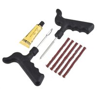 Wholesale Drop Shipping1set Tubeless Auto Bike Car Tire Tyre Cement Tool Puncture Plug Repair Kit Safety estNew