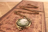 belle sweater - Hot Queen Pendant Necklace Vintage Cameo Retro Belle Cameo Sweater Chain Necklace N1210A