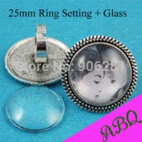 antique victorian ring - 50 Pieces mm Ring Setting Antique Silver Victorian Bead Edged Ring Tray Adjustable Bezel Ring Blank for mm Cabochon