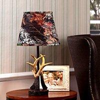 antler table lamps - Novelty Antlers Resin Iron Desk Lamp Tiffany Style Luminaria De Mesa Living Room Study Lighting Decor Table Light for Reading
