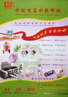 Wholesale Clear transparent color cost A4 size inkjet water paper