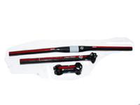 Wholesale PURA RAZA set of carbon mtb handlebar bike handlebar seatpost stem pcswasher bike parts