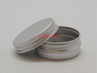 shipping container tin - ml Aluminium Balm Tins pot Jar g comestic containers with screw thread Lip Balm Gloss Candle Packaging