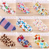 32*32*44(cm) baby head scarf - Baby Bandana Scarf Sides Bibs Feeding Clear Triangle Cotton Kid Head Scarf Infant Bibs Burp Cloths