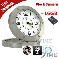 plastic table clock - 2015 new GB Mini spy hidden digital Table Alarm Video clock Camera Spy Camera Desk Clock Record Motion Detection P with plastic bag